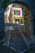 Saint Paul De Vence Framed Prints - Saint Paul Entrance Framed Print by Inge Johnsson