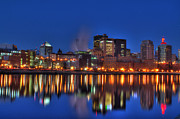 Landscape Framed Prints Prints - Saint Paul Minnesota at Night Print by Jimmy Ostgard