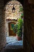 Saint Paul De Vence Framed Prints - Saint Paul Passageway Framed Print by Inge Johnsson
