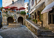 Saint Paul De Vence Framed Prints - Saint Paul Square Framed Print by Inge Johnsson