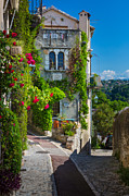 Saint Paul De Vence Framed Prints - Saint Paul View Framed Print by Inge Johnsson