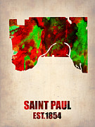 Irina  March - Saint Paul Watercolor Map