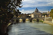 Structure Originals - Saint Peters Dome over Ponte SantAngelo by William Fields