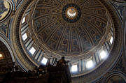 Vatican Photos - Saint Peters Light by Aaron S Bedell