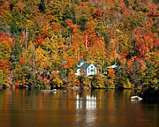"""adirondack Park""  Photo Posters - Saint Peters On the Lake Adirondacks New York Poster by Diane E Berry"