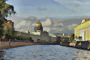 Old Town Digital Art Prints - Saint Petersburg 2 Print by Yury Malkov
