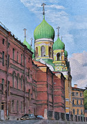 Saint Petersburg Prints - Saint Petersburg 5 Print by Yury Malkov