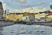 Old Town Digital Art Prints - Saint Petersburg 6 Print by Yury Malkov