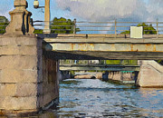 Saint Petersburg Prints - Saint Petersburg Bridges 1 Print by Yury Malkov