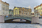 Saint Petersburg Prints - Saint Petersburg Bridges 2 Print by Yury Malkov