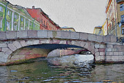 Saint Petersburg Prints - Saint Petersburg Bridges 3 Print by Yury Malkov