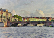 Saint Petersburg Prints - Saint Petersburg Bridges 4 Print by Yury Malkov