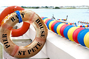 Pier Prints - Saint Petersburg Marina Life Preserver Print by Amy Cicconi
