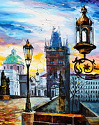 Town Square Painting Posters - Saint Petersburg New Poster by Leonid Afremov