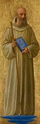 Full-length Portrait Posters - Saint Romuald Poster by Fra Angelico