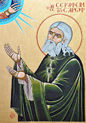 Seraphim Paintings - Saint Seraphim of Sarov by Giorgos Arsenis