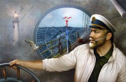 Soul Paintings - Saint Simons Island Map Captain 3 by Yoo Choong Yeul