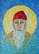 Orthodox Painting Originals - Saint Spyridon by Xanthie Zervou