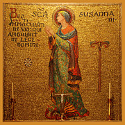 Religious Art Digital Art Prints - Saint Susanna Altar Print by Philip Ralley