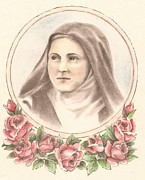 Child Jesus Drawings - Saint Theresa of Lisieux  by Manon  Massari