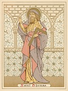 Christianity Drawings Metal Prints - Saint Thomas Metal Print by English School