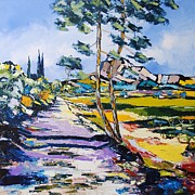 Tropez Paintings - Sainte Victoire by Atelier De  Jiel