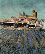 Saintes Maries De La Mer Print by Vincent van Gogh