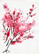 Sakura Paintings - Sakura by Alexandra-Emily Kokova