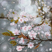 Cherry Blossoms Paintings - Sakura no Hana by Rae Stanton