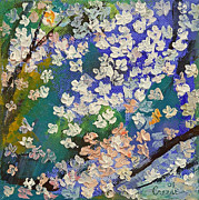 Cherry Blossoms Paintings - Sakura Oil Painting by Michael Creese