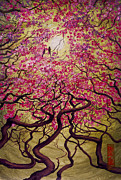 Original Artwork Paintings - Sakura by Vrindavan Das