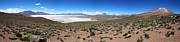 Desert Metal Prints - Salar de Surire Panoramic Metal Print by James Brunker