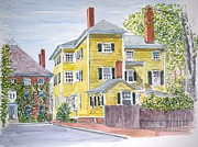 Historic Home Painting Prints - Salem Print by Anthony Butera