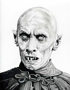 Undead Drawings Posters - Salems Lot Poster by Fred Larucci
