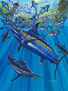 Black Marlin Framed Prints - Salinas Off006 Framed Print by Carey Chen