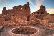 Church Ruins Framed Prints - Salinas Pueblo Mission Abo Ruin 3 Framed Print by Bob Christopher