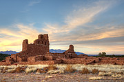 Ancestors Prints - Salinas Pueblo Mission Abo Ruin 4 Print by Bob Christopher