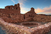 Church Ruins Framed Prints - Salinas Pueblo Mission Abo Ruin Framed Print by Bob Christopher