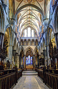 Salisbury Cathedral Print by Juli Scalzi