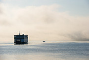 Ferry Prints - Salish into the Fog Print by Mike  Dawson