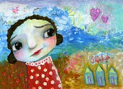 Shirley Mixed Media - Sally by the sea by Shirley Dawson
