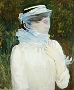 American Singer Paintings - Sally Fairchild by John Singer Sargent