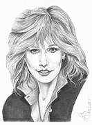 Pencil Drawing Posters - Sally Kellerman Poster by Murphy Elliott