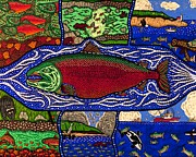 Salmon Paintings - Salmon Cycle by Bill NeSmith