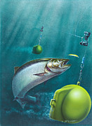 Salmon Dowrigger Print by Jon Q  Wright