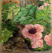 Salmon Poppies Print by Carol Kovalchuk
