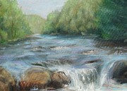 Salmon Paintings - Salmon RIver by Arlene Cavalieri