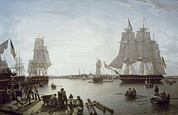 Salmon, Robert 1775-1845. Boston Print by Everett