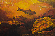 Salmon Run Print by Terry Gill