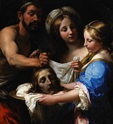 John The Baptist Posters - Salome with the Head of Saint John the Baptist Poster by Onorio Marinari